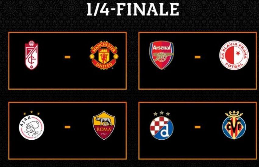 Definidos los cuartos de final de la Europa League   Mi pasión